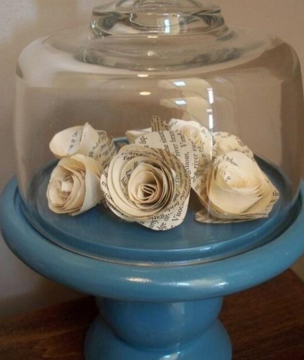 розы из страниц книг