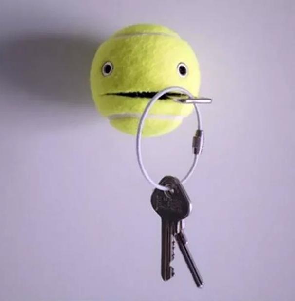 теннисный мяч вместо ключницы