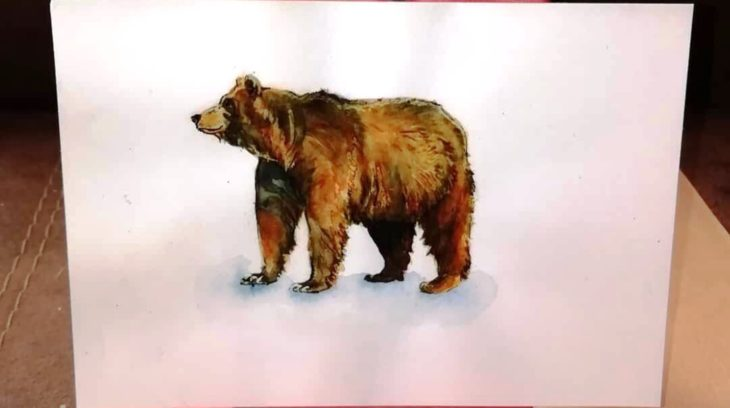 открытка медведя