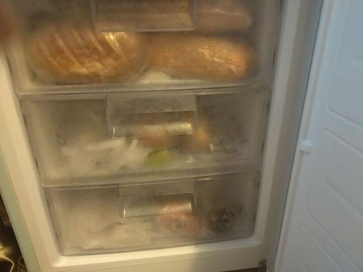 хлеб в морозилке