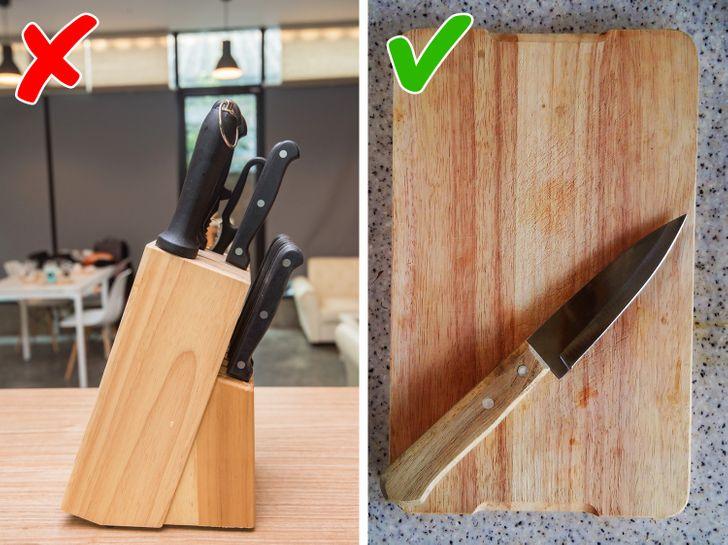 откажитесь от набора ножей с подставкой