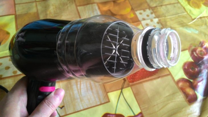 насадка для фена из бутылки