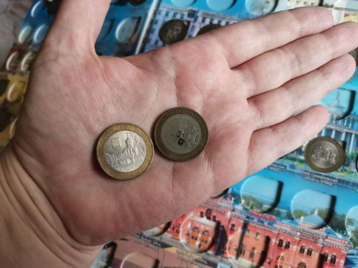 ржавая монета до очистки