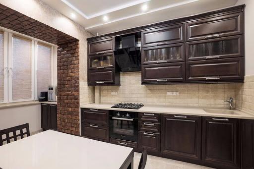 кухня с большими ящиками