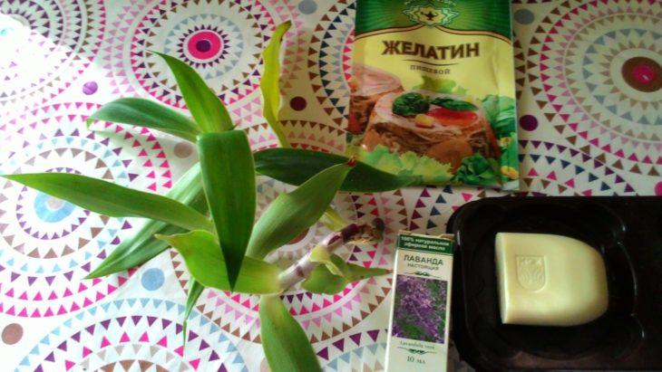 ингредиенты для желатинового мыла