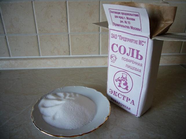 солью очищаем мантышницу
