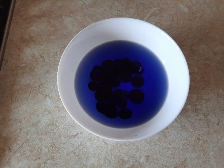 вода от монет синеет