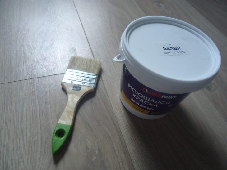покраска стены с загрязнениями