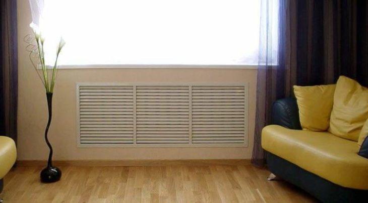радиатор за скрытой стеной